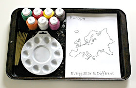 Continent Painting Activity
