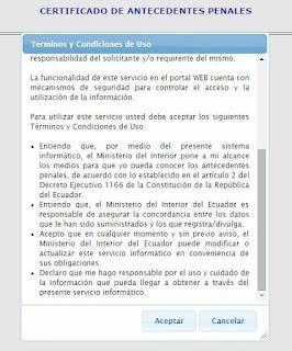 como imprimir récord policial ecuador 2016