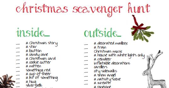 Christmas Scavenger Hunt.Tightwad Christmas Scavenger Hunt