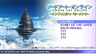 Sword Art Online Infinity Moment PPSSPP (English Version) Terbaru