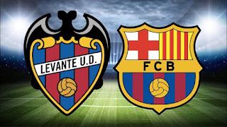 مشاهدة مباراة برشلونة و ليفانتي بث مباشر الآن في الدوري الاسباني
