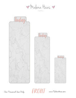 Marble Themed Bookmarks or Pagemarkers for Planners