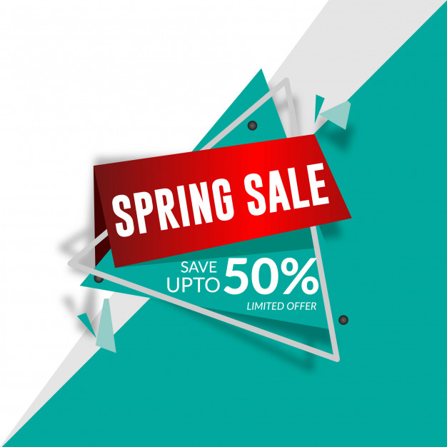 Bright sale banner Free Vector