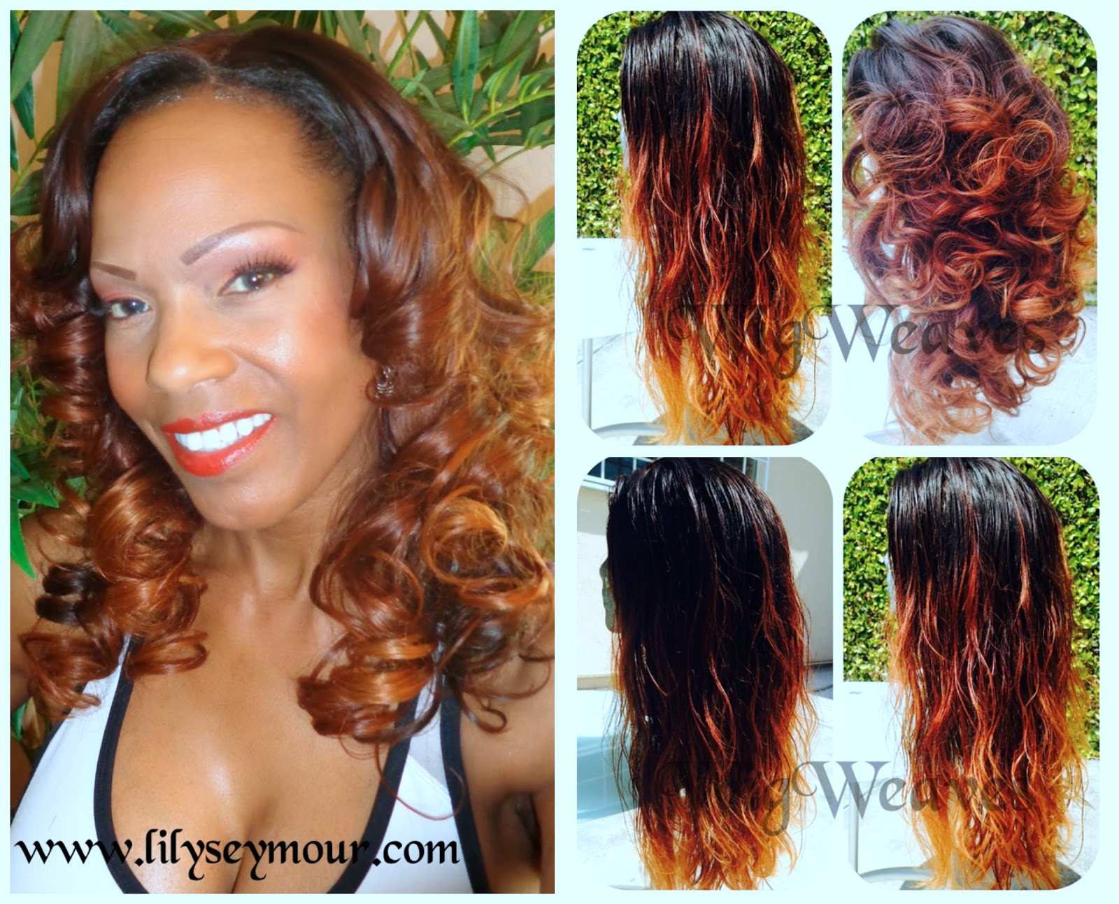 Ombre Lace Front Wig