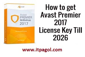 Avast Premier 2017 license key crack Till 2023