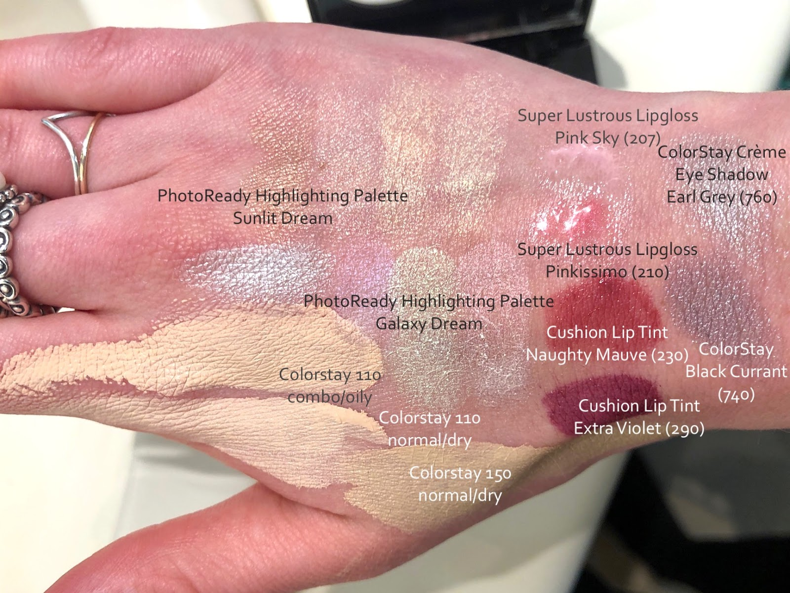 Revlon Colorstay Swatches Review