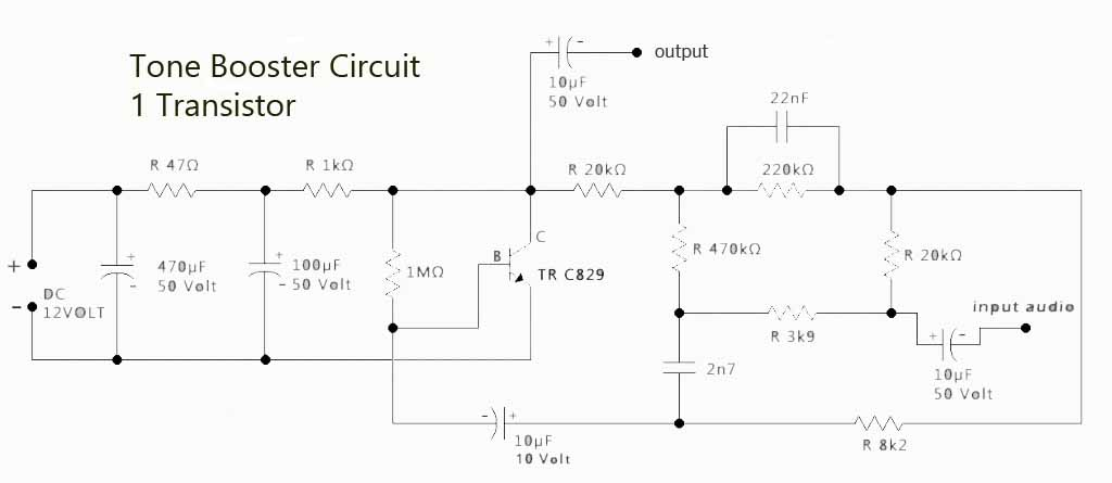 bass treeble booster circuit electronic circuit rh elcircuit com Schematic Diagram Symbols Schematic Diagram Example