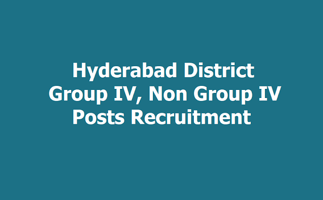 Hyderabad Group IV, Non Group IV Posts