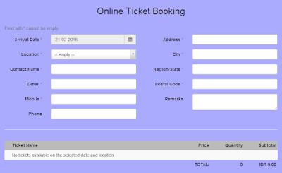 form pemesanan tiket jatim park online