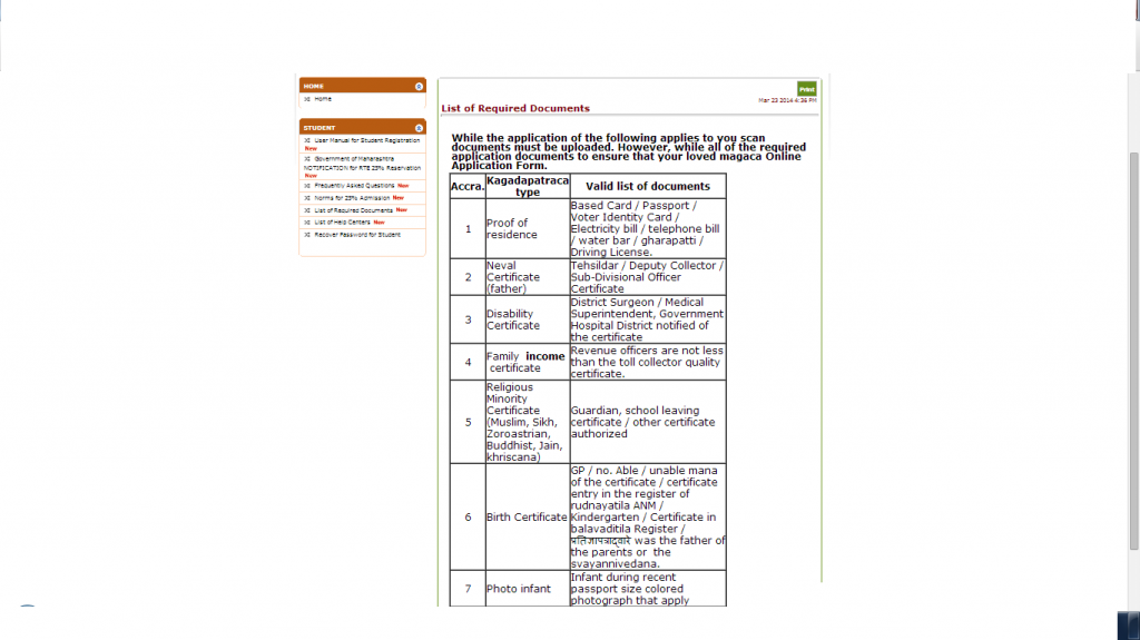 rtemaharashtra.in 2015 Login, Application Form