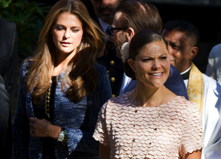 Princess Madeleine, Crown Princess Victoria, Queen Silvia attend memorial service for Princess Lilian at English Church