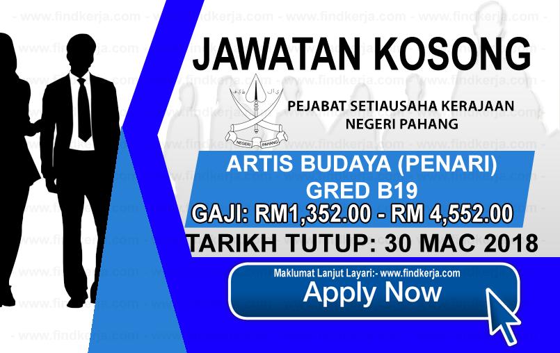 Jawatan Kerja Kosong Suruhanjaya Perhidmatan Awam Negeri Pahang logo www.findkerja.com mac 2018