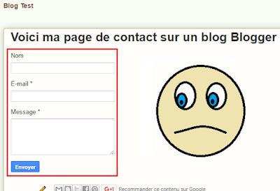 Formulaire de contact Blogger basique, moche et pas pratique