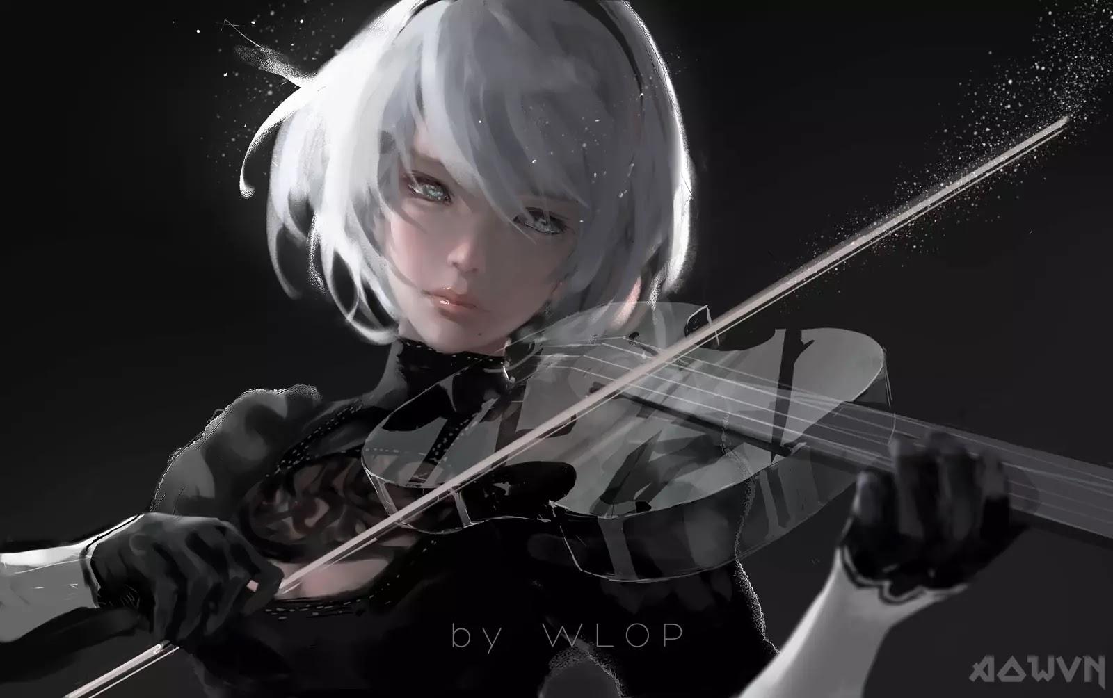 17 AowVN.org m - [ Hình Nền ] Anime Cực Đẹp by Wlop | Wallpaper Premium / Update