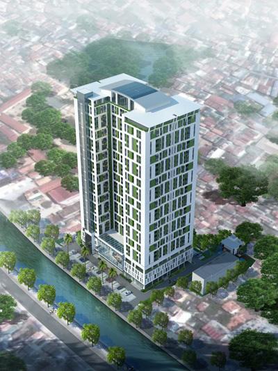 Phối cảnh Riverside garden 45 Vũ Tông Phan