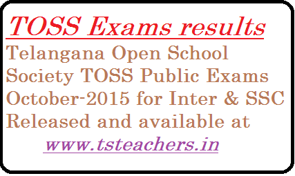 telangana-open-school-toss-ssc-inter-public-exams-results TOSS Examinations 2015 Results | TOSS Exams SSC Inter October 2015 Results released | Telangana Open School Society Inter SSC Examinations October 2015 Results | TOSS Public Examinations for SSC and Inter October 2015 results in Telangana Released