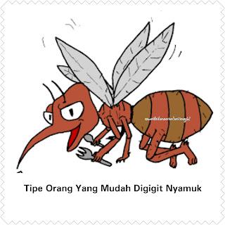 Tipe orang yang mudah digigit nyamuk