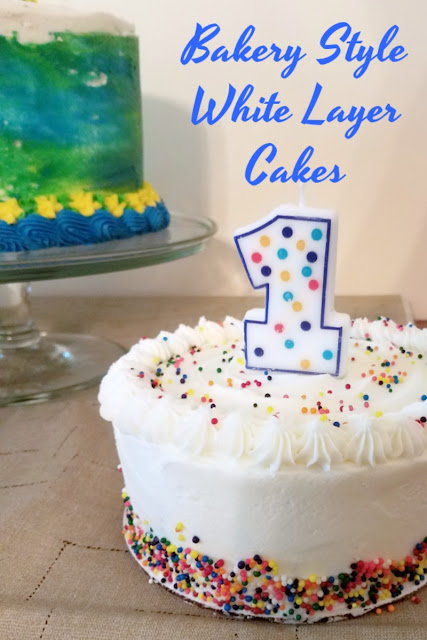 A delicious white cake that has a great texture and is sturdy enough for stacking layers. It's perfect for diy wedding cakes, fun birthday cakes or any special occasion!