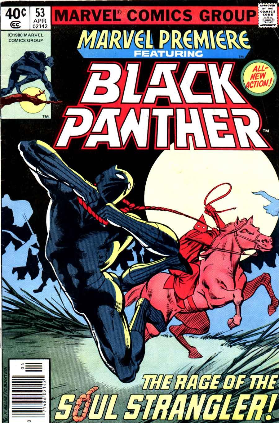 Marvel Premiere #53 / Black Panther 1970s bronze age marvel cover art by Frank Miller