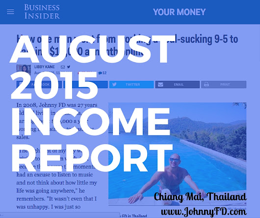 August 2015 Income Report: Chiang Mai, Thailand