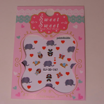 Born Pretty Store Elephant and Owl Nail Stickers