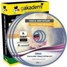 TEOG 8.Sınıf Türkçe Görüntülü Eğitim Seti 9 DVD