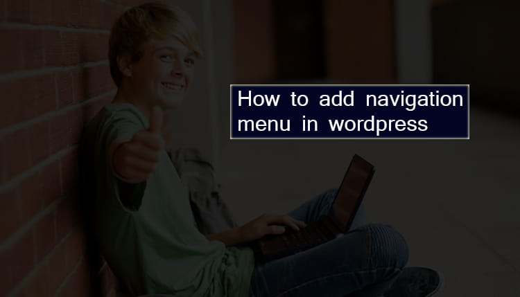 WordPress par Navigation menu kaise add kare