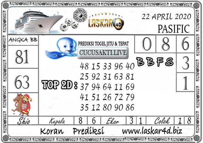 Prediksi Togel PASIFIC LASKAR4D 22 APRIL 2020