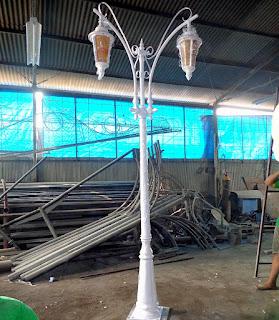 Pabrikasi Tiang Lampu Antik Dzaky Jaya