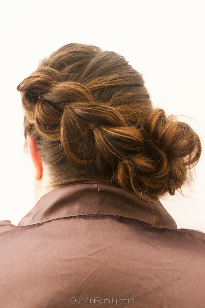 Day By The Pool Pull Through Braid With Side Bun Hair Tutorial