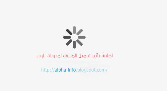 إضافة تأثير تحميل الصفحة لمدونات بلوجر