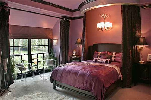 Bedroom Design Decor: Dark Purple Bedrooms Idea