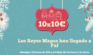 paf sorteo 10 bonos de 10 euros Reyes 2-6 enero