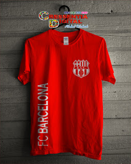 baju bola barcelona warna Orange Elegant