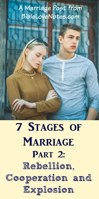 7 Stages of marriage, Rebellion in marriages, cooperation in marriages, explosive situations in marriages