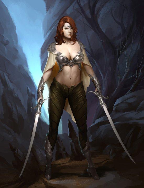 Bangku An artstation ilustrações games fantasia mulheres sensuais