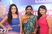 Divya Nandini stunning Beauty in blue Dress at Trendz Exhibition Launch ~  Celebrities Galleries 016.JPG