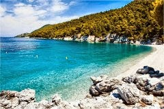 Skopelos: spiagge litorale occidentale
