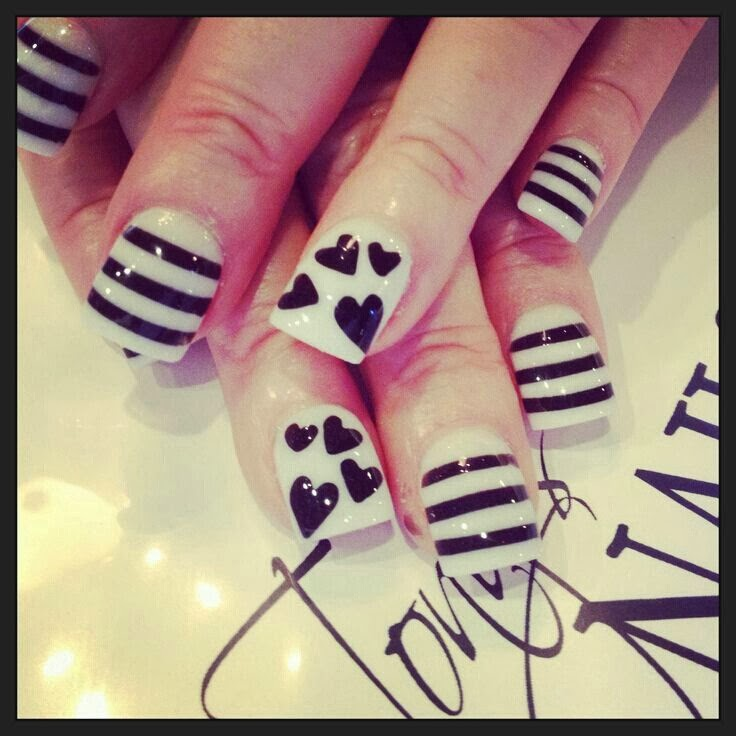 Drawing Lines On Nails : Nailart nail design drawing