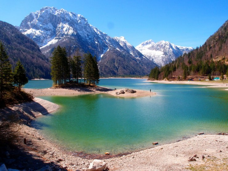 33 Amazing Beaches From Around The World - Lago del Predil, Italy