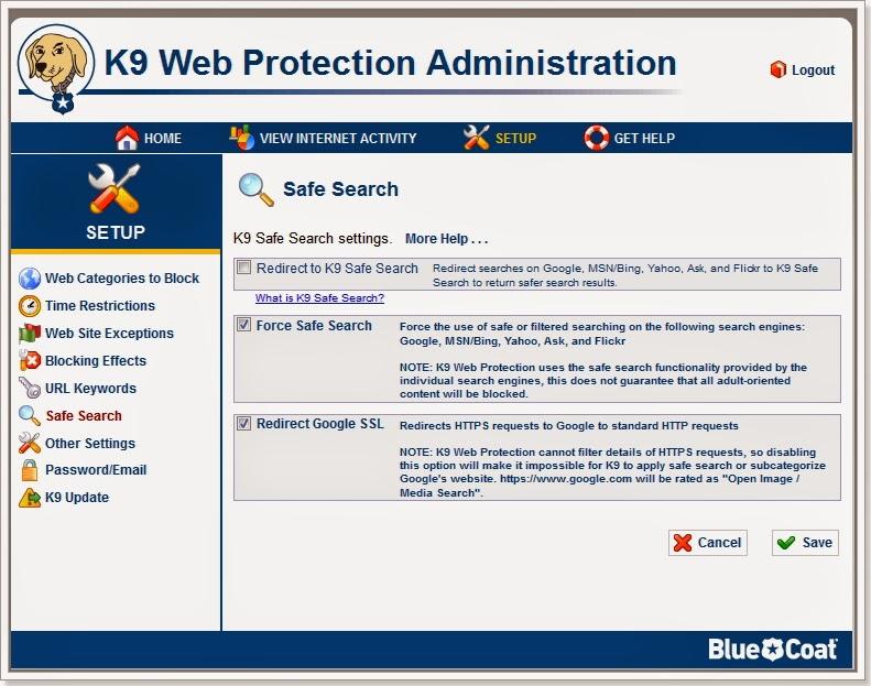 Saiba usar as configurações do K9 protection