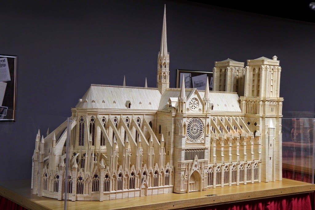 11-Notre-Dame-Cathedral-Patrick-Acton-The-Matchmaker-Matchsticks Sculptures-www-designstack-co