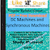DC Machines and Synchronous Machines PDF Study Materials cum Notes, E-Books Free Download