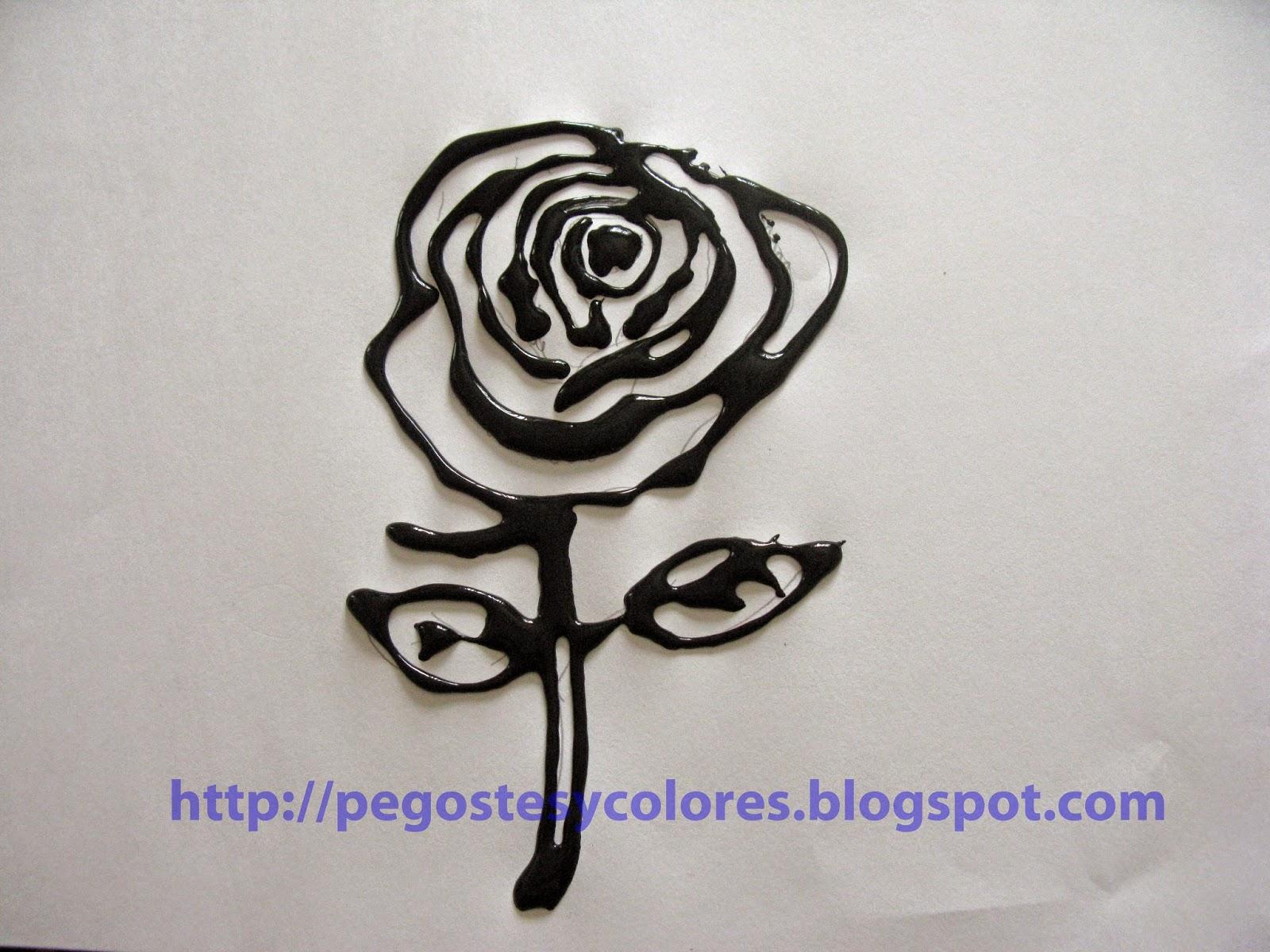 Rosas En Blanco Para Pintar. Rosas. Detalles Para El Da De La Madre ...