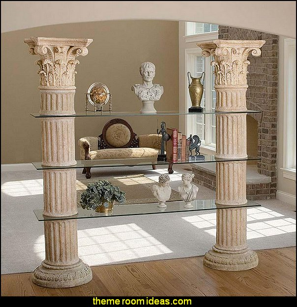 Columns of Corinth Shelves  mythology theme bedrooms -mythology theme bedrooms - greek theme room - roman theme rooms - angelic heavenly realm theme decorating ideas - Greek Mythology Decorations -  angel wall lights - angel wings decor - angel theme bedroom ideas - greek mythology decorating ideas - Ancient Greek Corinthian Column - Spartan Warrior Gladiators - Greek gods - Angel themed baby room - angel decor - cloud murals - heaven murals - angel murals - ethereal heavenly style