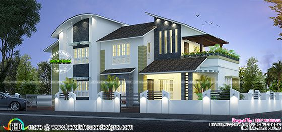 New modern house 35 lakhs kerala home design and floor plans for New model veedu photos
