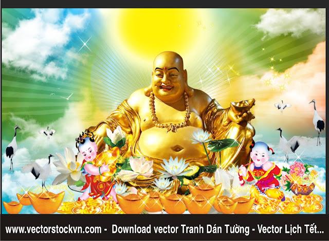 Phật Di Lặc file PSD. Download miễn Phí