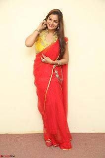 Actress Ashwini in Golden choli Red saree Spicy Pics ~  122.JPG