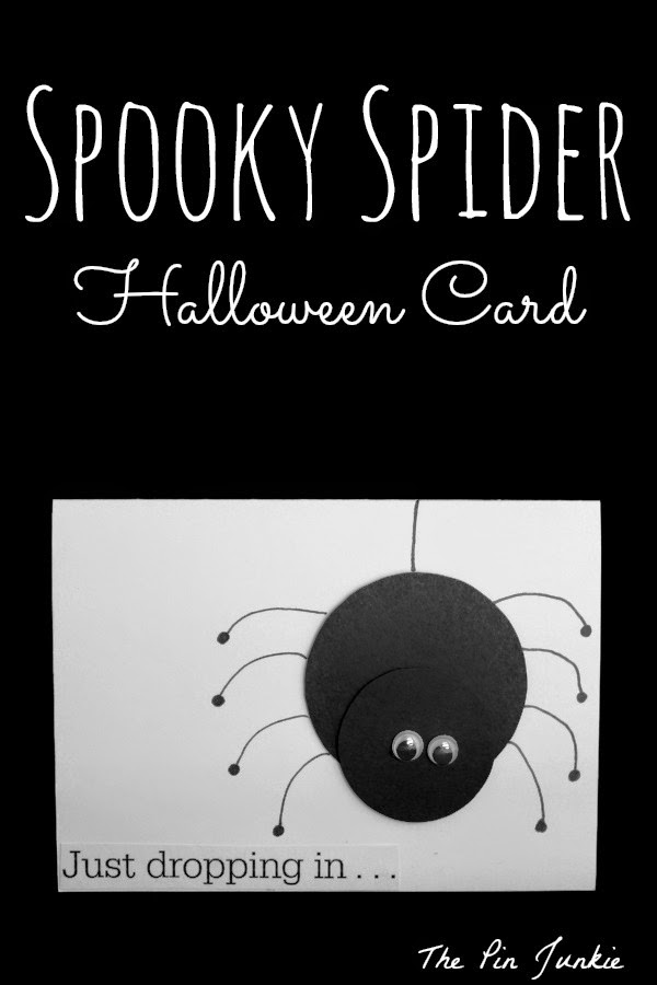 diy halloween spider card