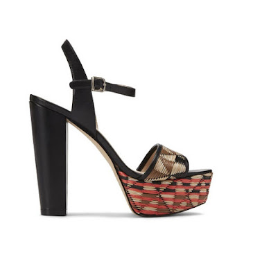 nine west tribal print platform high heeled sandals